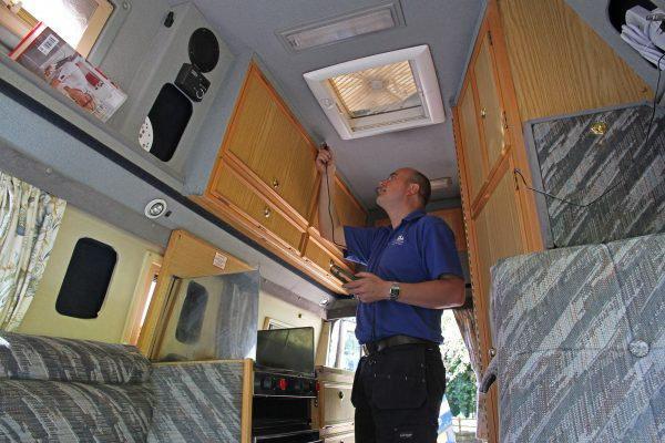 Damp testing Caravan & Motorhome